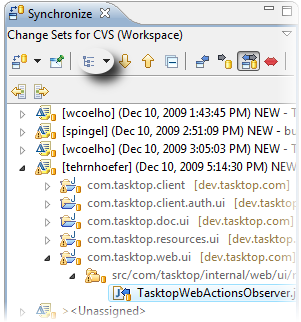Change Sets in Synchronize View
